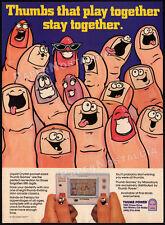 Thumb Games / MASUDAYA__Orig. 1982 print AD / game promo__Play & Time - Kitchen