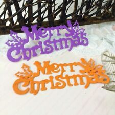 Merry Christmas DIY Cutting Dies Stencil Scrapbook Embossing Paper Card Decor