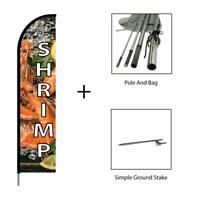 Outdoor Advertising Display Sign Popcorn Feather Flags Banners w//Pole Kit Stand