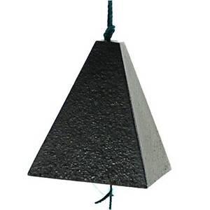 Japanese  Furin Wind-Chime Iwachu Cast Iron Black Pyramid shape Bell/Made Japan