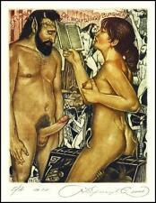 Kirnitskiy Sergey 2001 Exlibris C4 Erotic Erotik Nude Nudo Woman Devil Sex 32