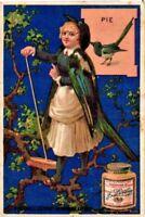 6 card set c1874 Liebig FRENCH 161 blue bird-ladies anthropomorph metamorphose