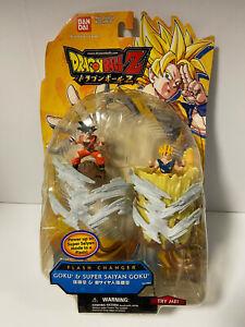 Dragon ball Z Flash Changer Action Goku & Super Saiyan Goku 2008 damaged package
