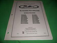 Drawer 16 Brillion Wl Folding Pulvi Mulcher Repair Parts Catalog