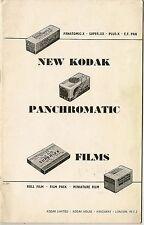 Kodak Vintage Camera Manuals & Guides