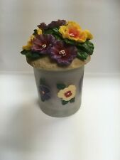 Pansy Jar Candle With Topper