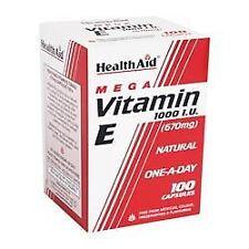 Healthaid VITAMINA E 1000iu natural - 100 Cápsulas