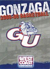 2008-09 GONZAGA UNIVERSITY BULLDOGS BASKETBALL POCKET SCHEDULE