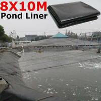 10mx8m Fish Pond Liner Garden Pools PVC Membrane Reinforced Landscaping 0.12mm