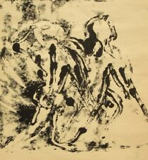 Contemporary modernist limited edition abstract monotype lithograph 1970's