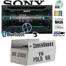 Sony Autoradio für VW Polo 6R 2DIN/Bluetooth/CD/USB/iPhone KFZ Auto Einbauset