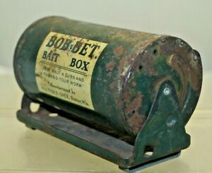 Vintage 1950s Bob Bet Metal Bait Box - Walter S Cole Wis. Old Fly Fishing Gear