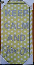 "Keep Calm Canvas Inspirational Wall Art Picture Home decor   24""x12"" inch"