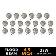 10X 27W LED Work Light 5D Lens Truck OffRoad Tractor Flood Lights 12V 24V Round