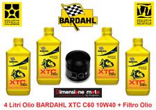 4 Litri Olio BARDAHL XTC-C60 10W40 + Filtro per SUZUKI GSX-R 1000 dal 2001 >2018