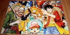 Poster A3 One Piece Sunny Go Mugiwaras Zoro Luffy Sanji Brook Nami Chopper