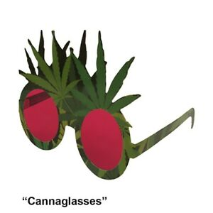 Cannabis Novelty Printed Sunglasses,  420 Party, unbreakable, recyclable, 4-pack