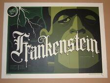 Tom Whalen Frankenstein Boris Karloff Movie Poster Print 2013 Universal Monsters