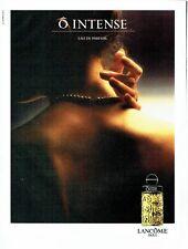 PUBLICITE ADVERTISING 037  1986  Lancome eau de parfum femme O Intense 2