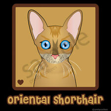 Oriental Shorthair Cat Cartoon T-Shirt Tee - Men Women's Youth Tank Short Long