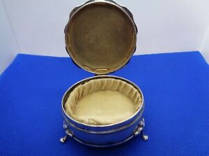 ANTIQUE FULLY HALLMARKED ENGLISH SOLID STERLING SILVER SILK LINED JEWELLERY BOX