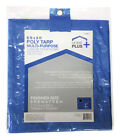 Home Plus  6 ft. W x 8 ft. L Light Duty  Polyethylene  Tarp  Blue