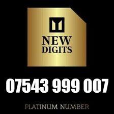 UNIQUE GOLD VIP DIAMOND PLATINUM MOBILE PHONE NUMBER SIM CARD 999 007