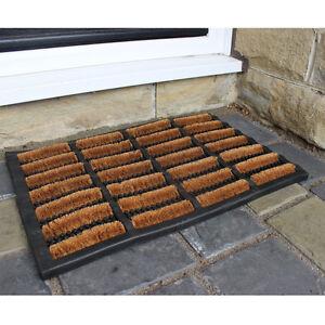 Small Home Door Tuff Scraper Mud Barrier Mat 40x60cm Nimbus Rubber Natural Coir