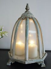 ANTIQUE STYLE LANTERN CLOCHE CANDLE HOLDER HOME WEDDING TABLE GLASS DOME