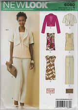 From UK Sewing Pattern Misses Jacket, Dress,Trousers,Top Size 6 - 16 # 6080