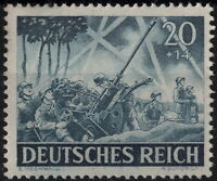 Stamp Germany Mi 838 Sc B225 1943 WW2 3rd Reich Wehrmacht Anti Aircraft  MH