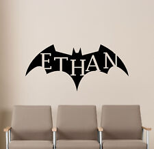 Personalized Batman Wall Decal Superhero Vinyl Sticker Poster Playroom Decor 5v