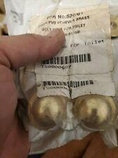 Brasstech 520/01 forever brass  Round Bolt Caps for Toilet