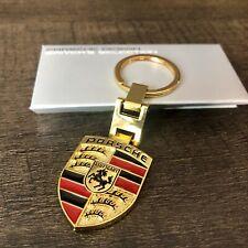 Porsche Driver Selection Dual-Side Gold Crest Keychain *Wap05009216*
