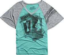 New! Fox Racing Ladies X-Large Big Night Dolman Vneck Cotton Blend T-Shirt