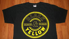 Mens Older Wiz Khalifa T-Shirt Large Black & Yellow Hip Hop Rap Artist vintage