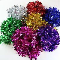 5 CHRISTMAS TINSEL Xmas Tree Decorations Thick Luscious Silver Gold Green Red