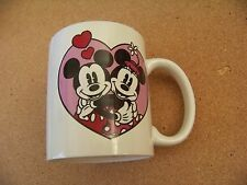New listing Minnie Loves Mickey coffee mug cup Disney mouse cracked handle Display Only