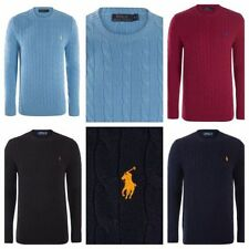 Ralph Lauren Men's Chunky, Cable Knit Knit Crew Neck Cotton Jumpers & Cardigans
