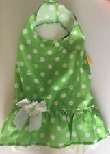 FOREVER FRIENDS DOG DRESS OUTFIT SUMMER GREEN LARGE POLYESTER NWT