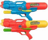 2 x Large 60cm Water Guns Triple Shooter Nozzle Pump Action Soaker Pistol 922