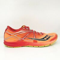 Saucony Mens Type A ViziPro S29028-1 Orange Running Shoes Lace Up Size 9