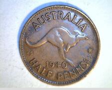 1940  Austrailia One Half Penny, High Grade Bronze (Aus-3)