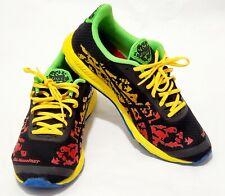 Men's ASICS T307N GEL-Noosafast Trail Running Shoes Flame/Black/Yellow SZ 9