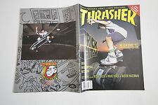 THRASHER SKATEBOARD MAGAZINE FEBRUARY 1990 LASEK KNOX TEMPLETON AIRWALK LEE HAWK