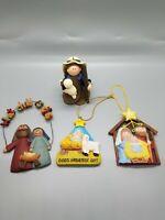 Nativity Christmas Lot Of 4 Beautiful 009