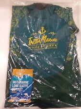 BRAND NEW InstaMarine Neoprene Long Sleeve Kids Wetsuit Zipper - Green Size 8-9