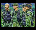 Stargate SG1.Original painted Sketch Card ACEO By Gavin Hunt