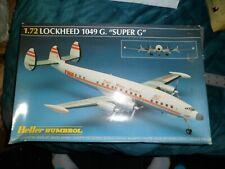 Very Old Rare Heller Humbrol Lockheed 1049 G Super G plan model kit 1/72