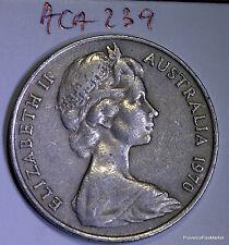 Mint Australia / Australia 20 cents 1970 cu/nickel aca239